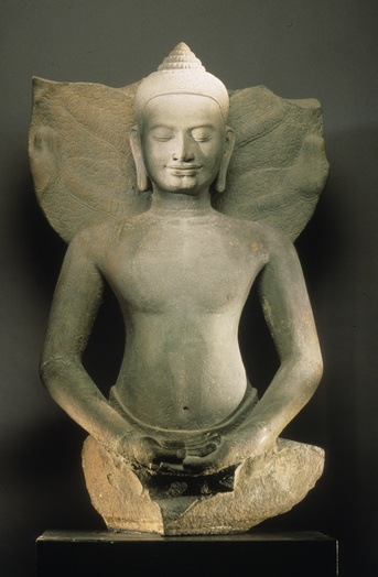 Buddha protege par le naga