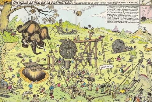 trazosenelbloc°blogspot°fr Un viaje aereo en la Prehistoria