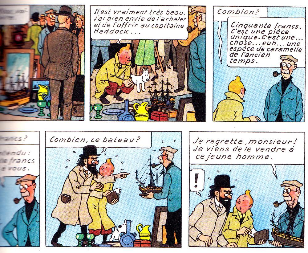 VOTRE AVIS: les brocantes c'est devenu n'importe quoi ? - Page 4 Tintin-le-secret-de-la-licorne-hergc3a9-casterman-2008