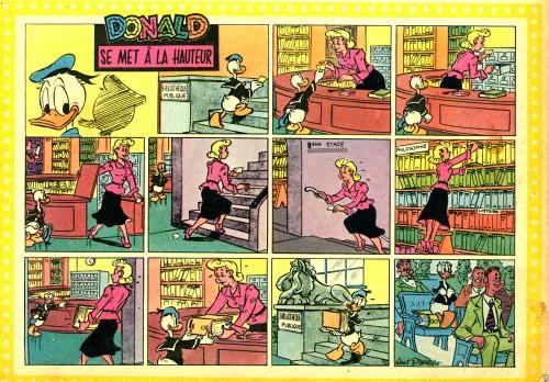 Donald se met à la hauteur - Mickey magazine n°341 - 18-04-1957