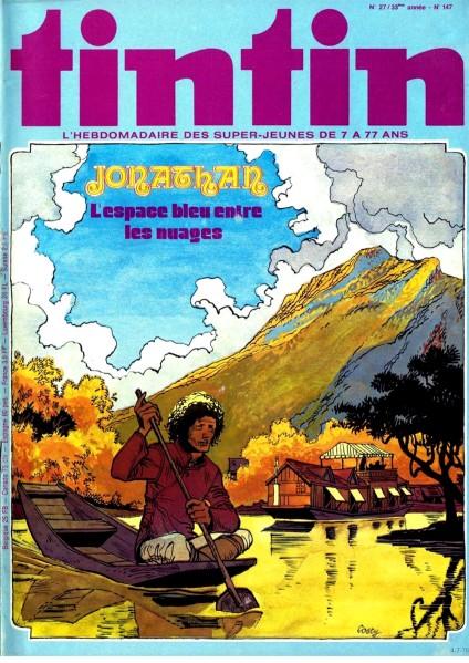 f-jonathan-lespace-bleu-entre-les-nuages-cosey-1978-tintin-belge-n27-0